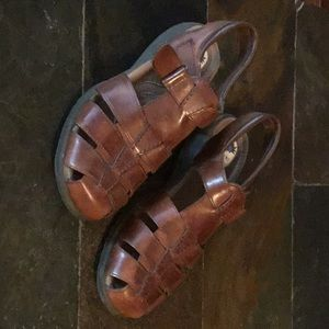 Michele M leather sandals with strap